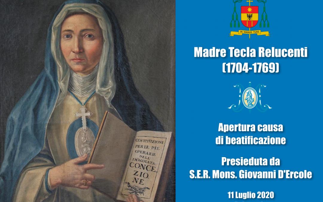 Apertura canonizzazione Madre Tecla Relucenti