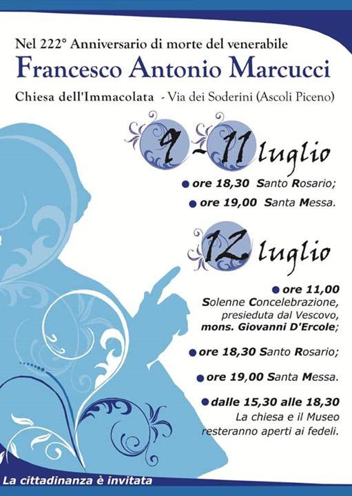Festa Beato Marcucci e Madre Tecla Relucenti