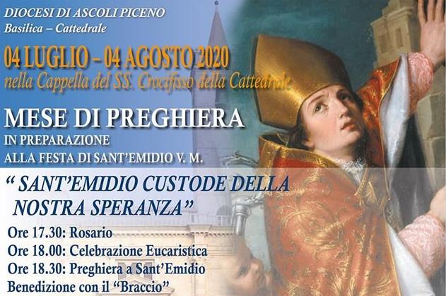Mese preghiera preparazione festa Santo Emidio
