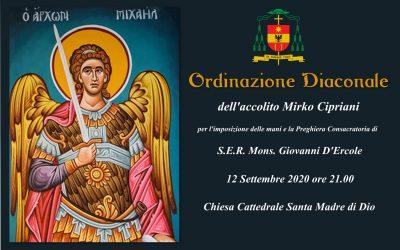 Ordinazione diaconale Mirko Cipriani