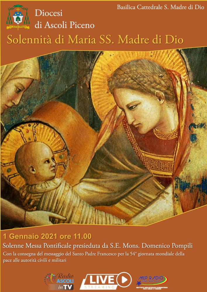 Locandina Solennità Maria SS. Madre di Dio 2021