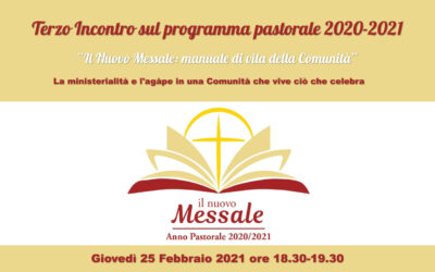 La ministerialità e l'agàpe in una Comunità che vive ciò che celebra