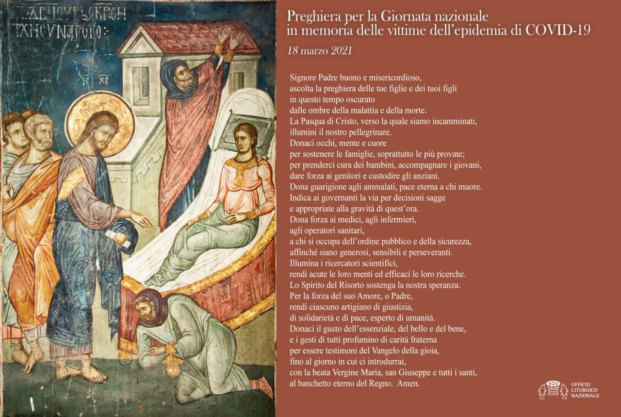 Preghiera per la giornata nazionale delle vittime del covid-19