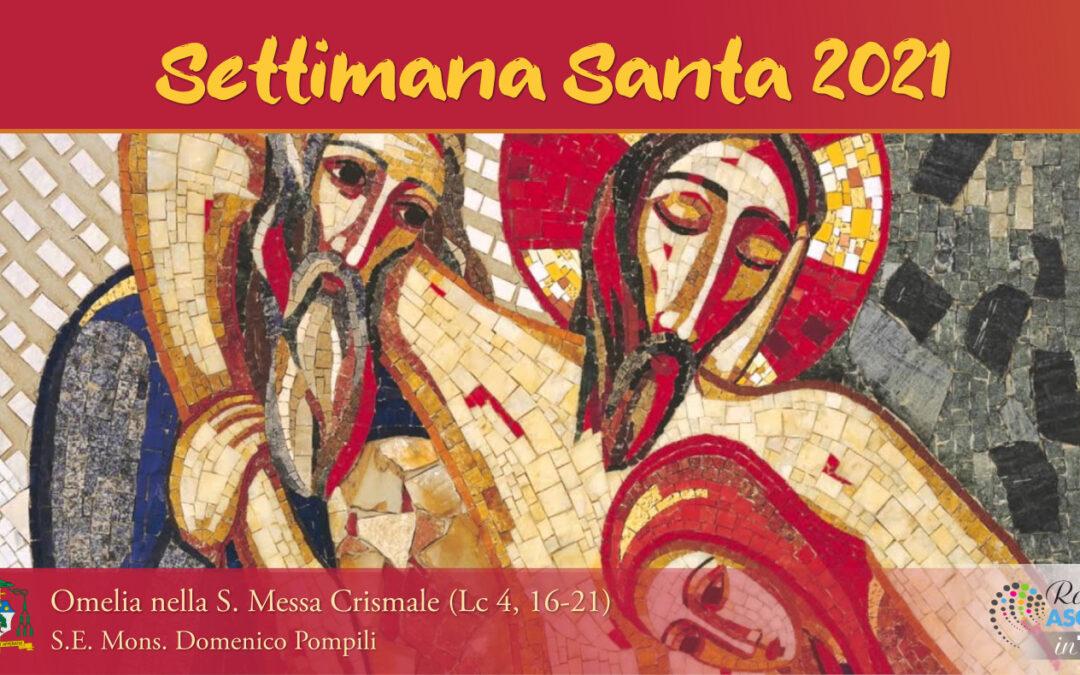 Omelia del Vescovo Domenico per la Messa Crismale