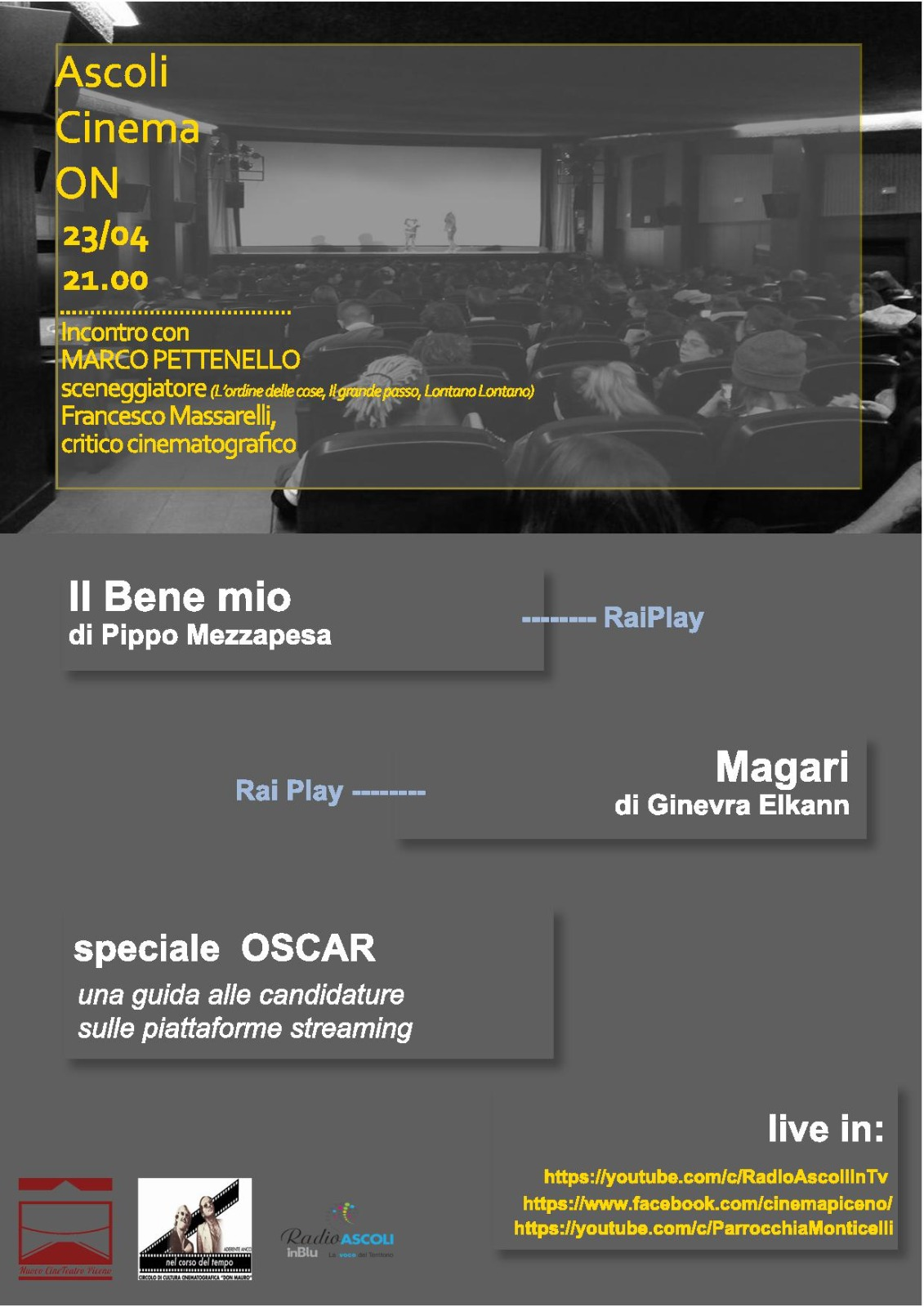 Terzo Appuntamento Ascoli Cinema On - Locandina