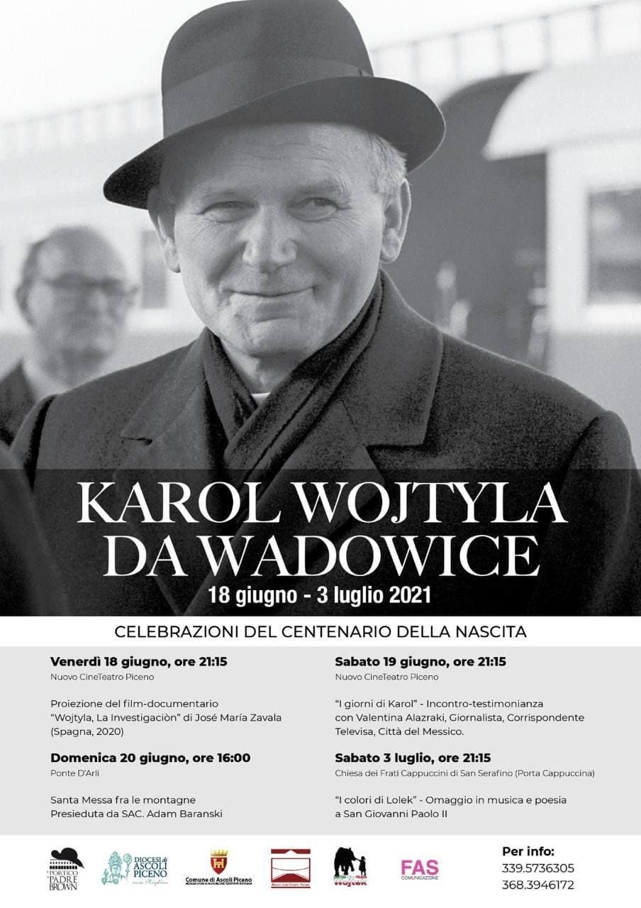 Karol Wojtila: le Celebrazioni del centenario - locandina