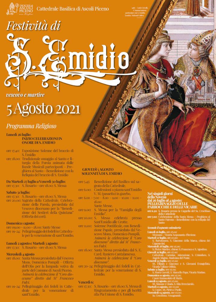 Solennità di Sant'Emidio 2021 - locandina