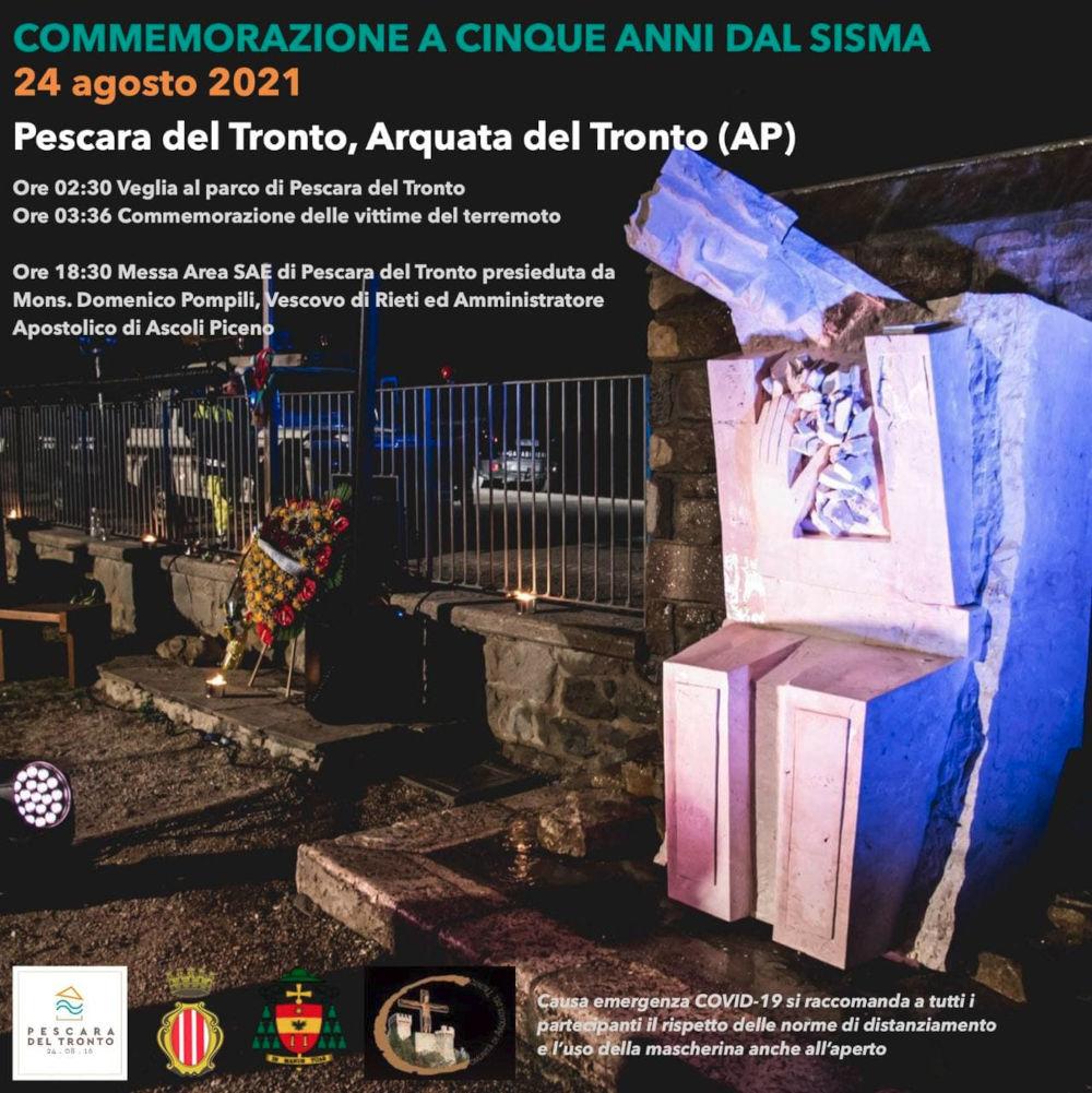 Commemorazione a cinque anni dal sisma - locandina