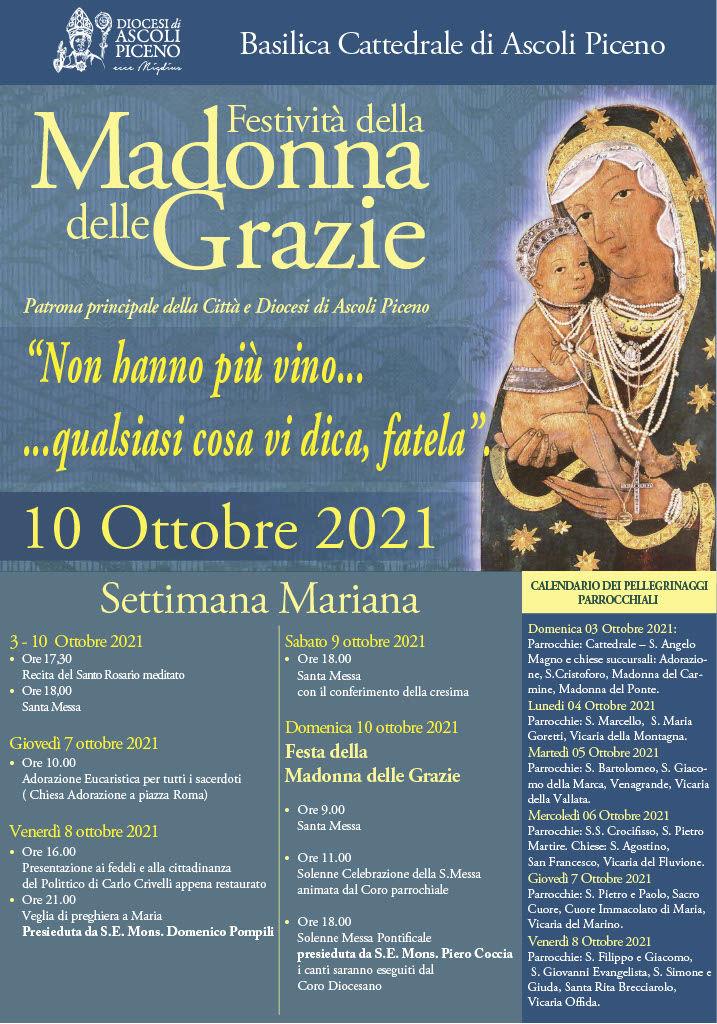 Solennità Madonna delle Grazie 2021 - locandina